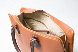 ブリーフバッグのジップ内ポケット