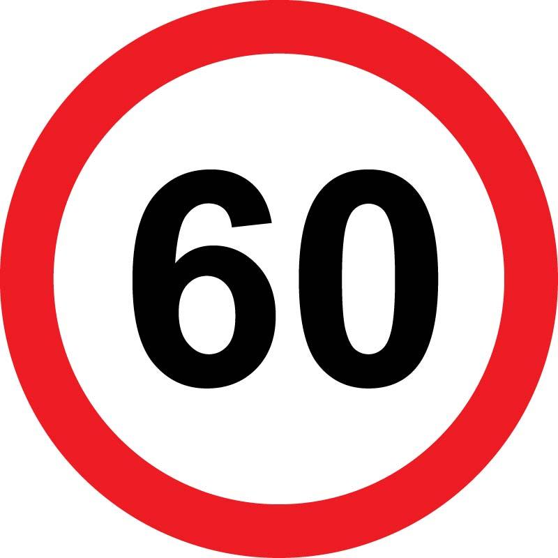Prometni znak 60 let 37cm Arma
