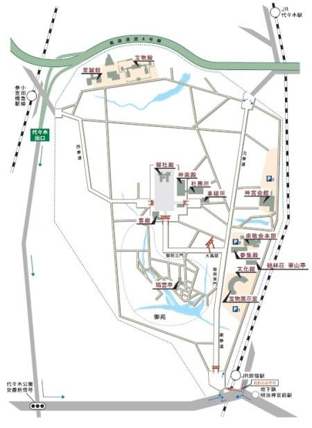 明治神宮境内マップ