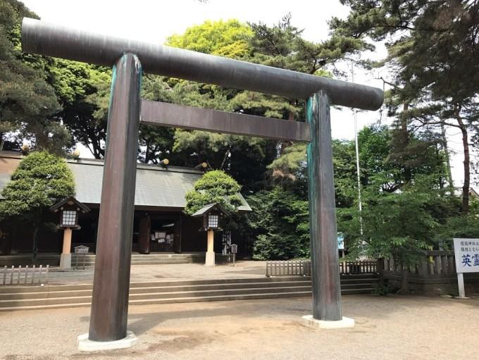 埼玉県護国神社二の鳥居