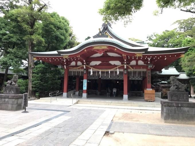 越谷久伊豆神社拝殿
