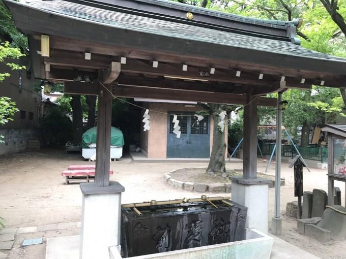 越谷香取神社手水舎