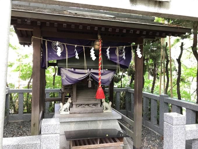 市谷亀岡八幡宮出世稲荷神社拝殿