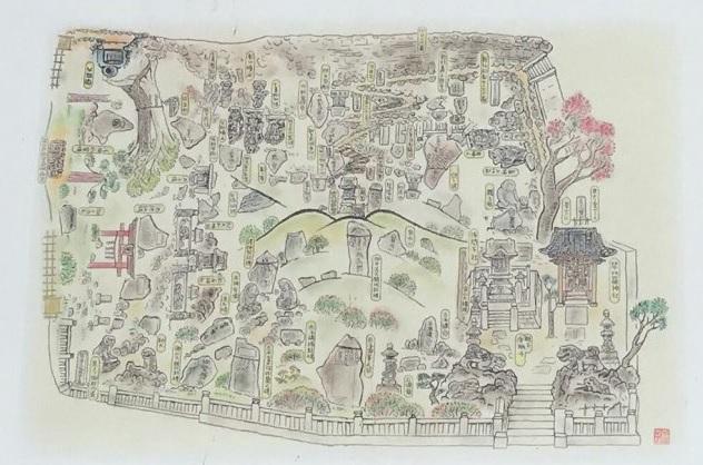 敷島神社田子山富士塚マップ