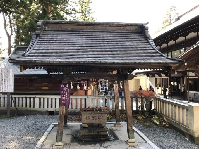 三峯神社手水舎