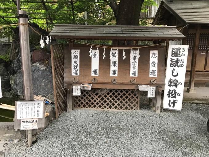 川越熊野神社運試し輪投げ