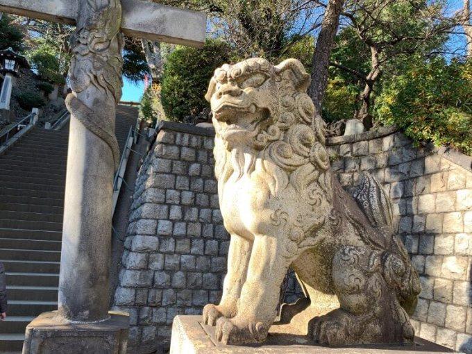 品川神社狛犬1右