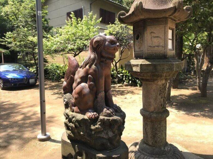 品川神社狛犬3左