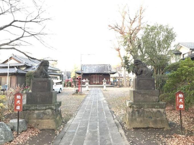 上戸田氷川神社参道