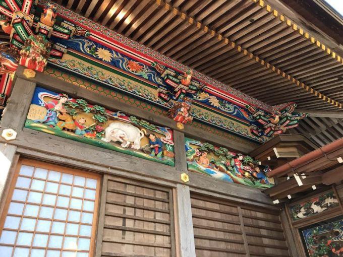 宝登山神社社殿の彫刻3