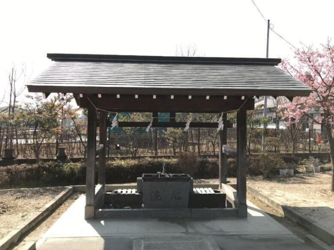 朝日氷川神社手水舎