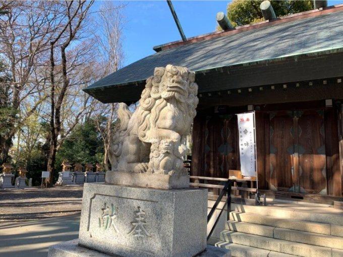 所澤神明社狛犬左