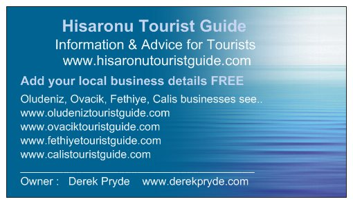 Hisaronu Tourist Guide & Business Directory - Business Card