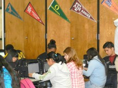 Senior College Application Day at Sharpstown High School.
