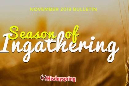 Season of In-gathering - November 2019 Bulletin