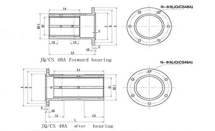 Marine JQ/CS 48A Type Stern Tube Bearing Supplier, China