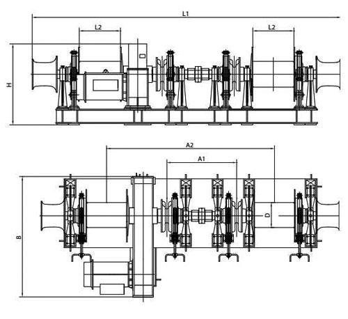 Symmetrical El-combined Windlass Mooring Winch Supplier