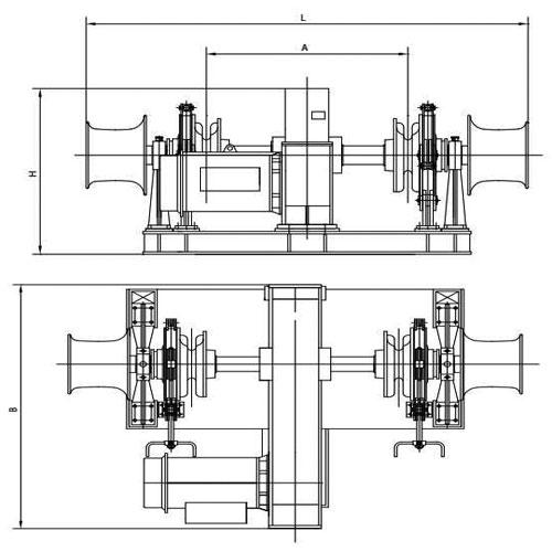 Symmetrical Electric Windlass Supplier, China Marine