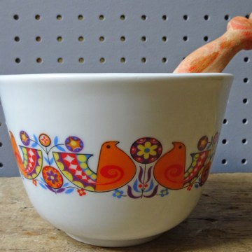 Vintage birds pestle and mortar | H is for Home