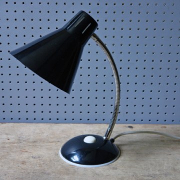 Vintage black goose neck desk lamp | H is for Home