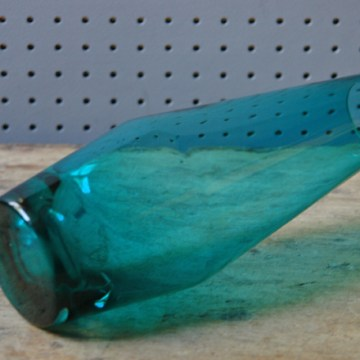 Vintage blue art glass vase | H is for Home