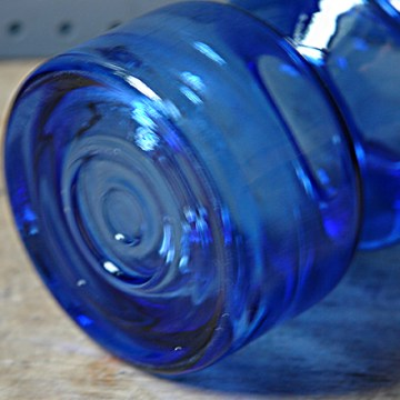 Riihimäki blue glass vase | H is for Home