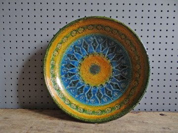 Vintage blue, green and yellow Bitossi bowl