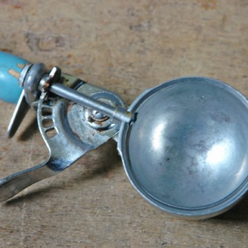 Vintage blue ice cream scoop | H is for Home