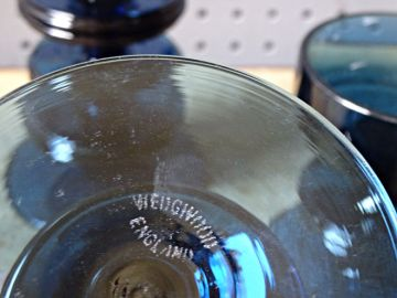 Blue vintage Wedgwood candleholders | H is for Home