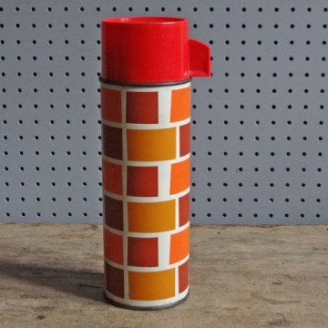 Brick pattern flask