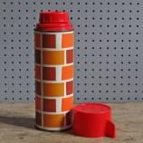 Brick pattern flask