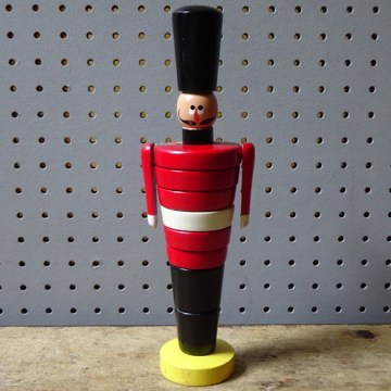 Vintage Brio wooden toy soldier | H is for Home