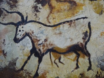 Vintage painting of Lascaux Caves by Mary Stringell | H is for Home