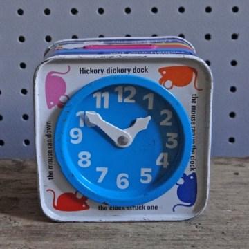 Chad Valley clock tin