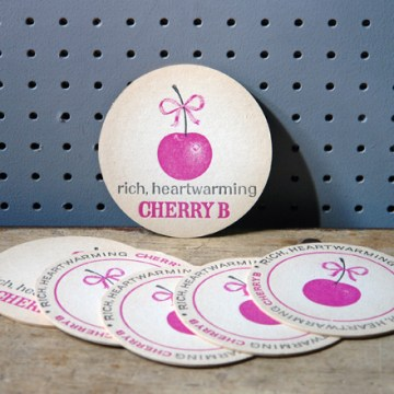 Vintage round Cherry B drink mats | H is for Home