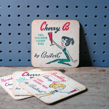 Vintage Cherry B drink mats | H is for Home