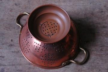 Vintage copper colander | H is for Home