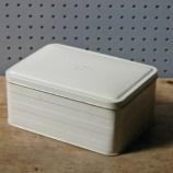 Cream vintage sandwich tin