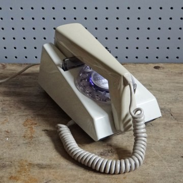 cream vintage Trimphone