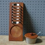 Vintage Danish teak and stainless steel breakfast set | H is for Home