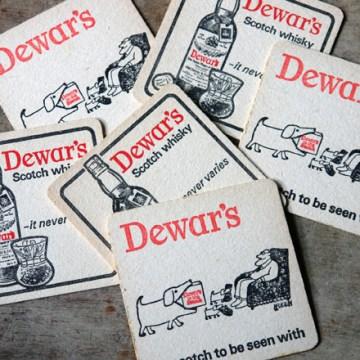 Vintage Dewar's drink mats | H is for Home