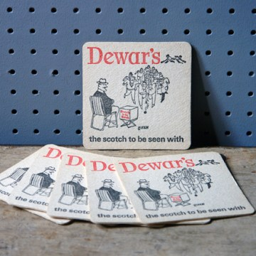 Vintage Dewar's drink mat | H is for Home