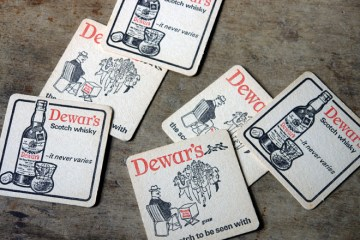 Vintage Dewar's drink mats | H is for Home