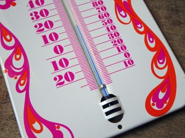 Vintage Laurids Lønborg metal thermometer | H is for Home