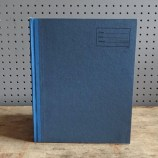 Blue-covered school exercise book
