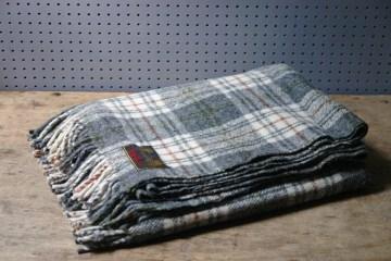 Grey check blanket