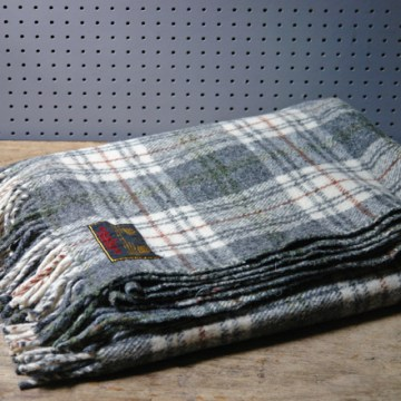 Grey check blanket