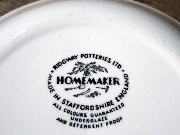 Vintage Ridgway Homemaker cereal bowls | H is for Home