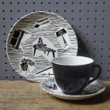 Vintage Homemaker tea trio | H is for Home