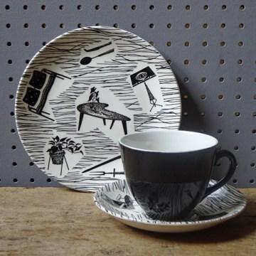 Vintage Homemaker tea trio   H is for Home